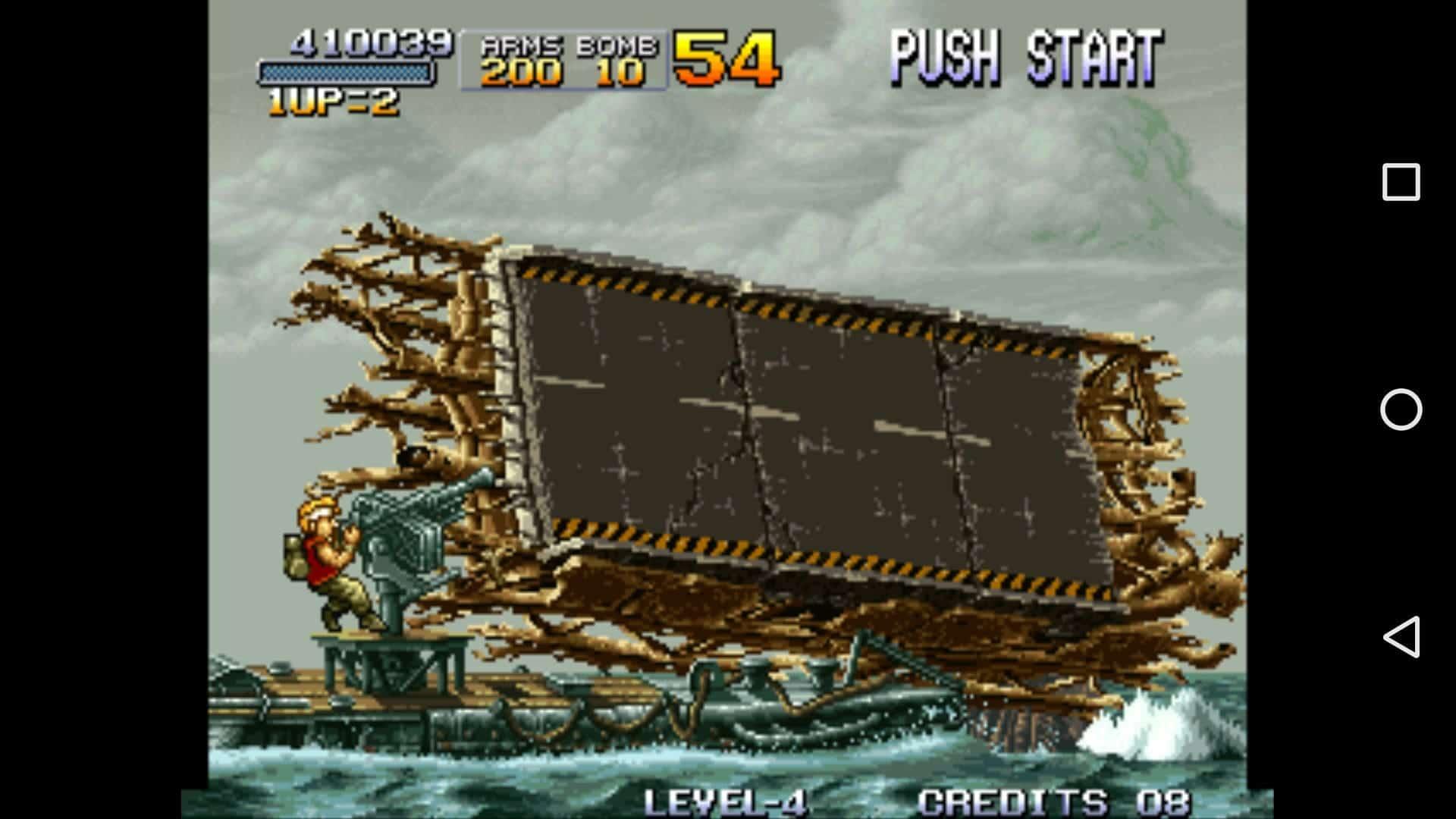 Screenshot from the Metal Slug game